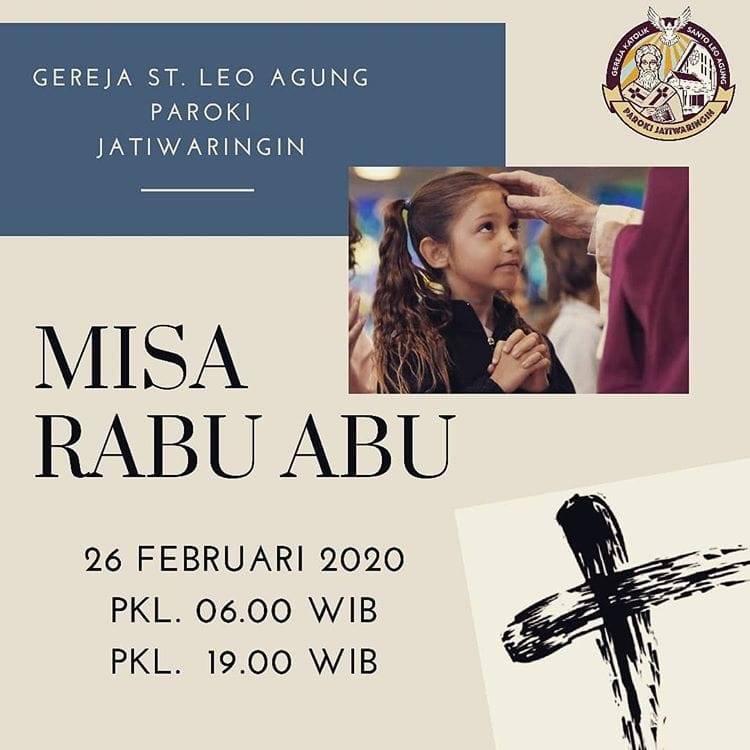 Misa Rabu Abu, Paroki Jatiwaringin